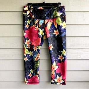 Calia Tropical Floral Print Yoga Capris